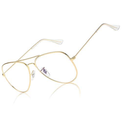Fashion Women Men Glasses Frame Classic Vintage Eyewear Frames Square Aviator Round Oval Half Frame ()