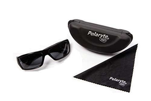 76582edfec62 Polaryte HD Polarized Sunglasses for Men and Women, 1 Pair of Black  Sunglasses with Case