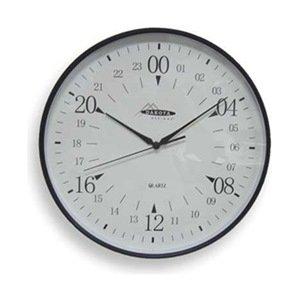 24 Hr Round The Clock (Dakota Designs 2CJA1 Clock, Round, 24-Hr, 12 In, Blk)