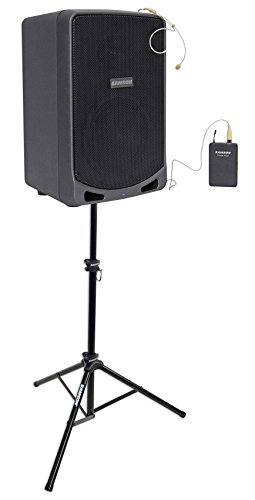 SAMSON XP106WDE 6'' Portable Rechargeable Bluetooth PA DJ Speaker+Headset+Stand by Unknown