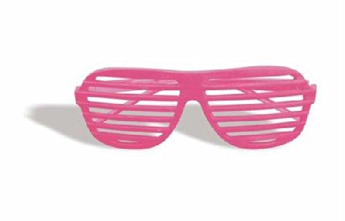 Forum Novelties Unisex Slot Glasses, Neon - Shutter Lenses Shades With