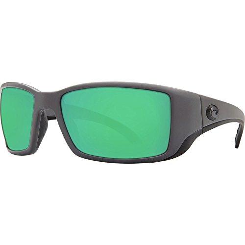 Costa Del Mar Blackfin Sunglasses Matte Gray/Green Mirror - Direct Sunglasses