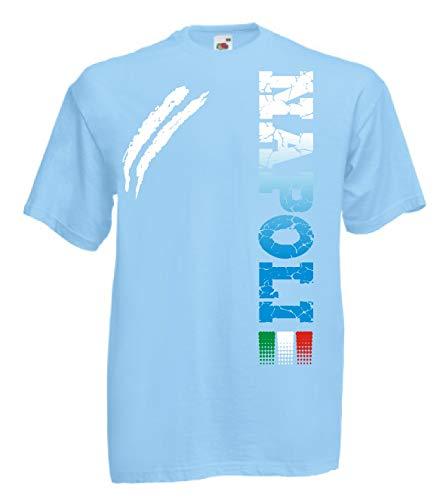 Colori Calcio 4 Disponibili shirt Tifosi Dalla E T Alla Sport S Ultras Napoli Generico Celeste … 3xl wSfnp7qO4