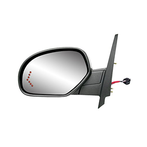 Fit System 62144G Silverado/Sierra Driver Side Textured Black Heated Power Replacement Mirror with Turn Signal and PTM Cover