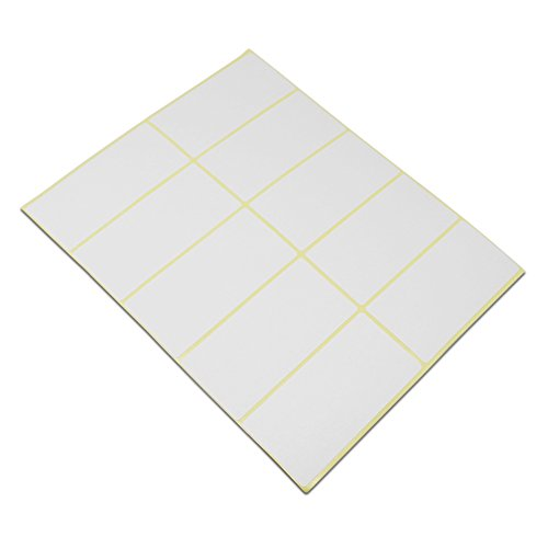 Rectangle Labels White Inventory (Blank Rectangle White Shipping Address Office Product Tags Self Adhesive School Note Name Mailing Supplies Labels Written Inventory Essential Stickers (1.5x3.0 inch / 750 pieces(75 sheets)))