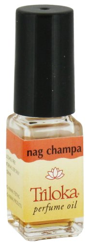 Nag Champa - Triloka Perfume Oil - 1/8 Ounce Bottle - incensecentral.us