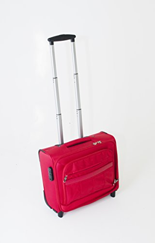 Red Wheeled Computer Cases (Wheeled Cabin Laptop Business Suitcase Briefcase Pilot Trolley Case Travel Bag travel (Red))
