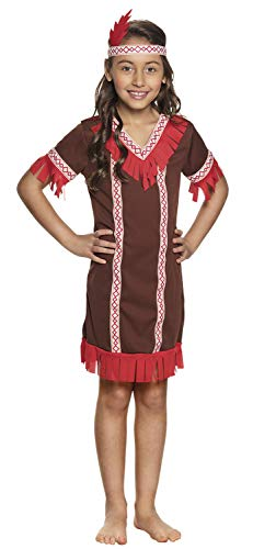 Boland 82264 Children's Costume Indian Fox Kitten 7-9 Years Brown]()