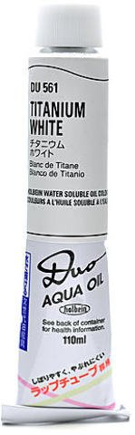 (Holbein Duo Aqua Artist Oil Color (Titanium White) - 110 ml 1 pcs sku# 1846068MA)