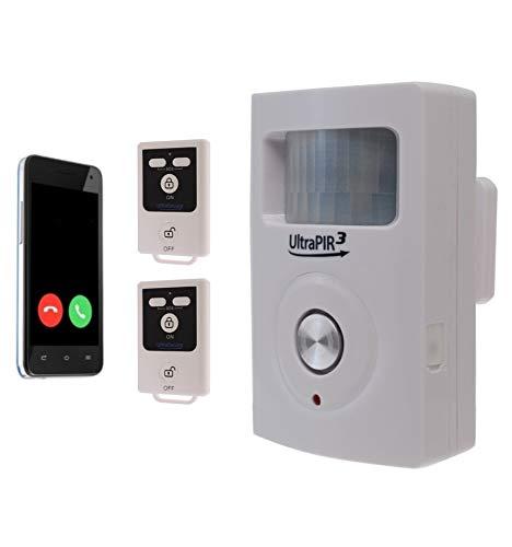Battery Powered GSM Alarm, Perfect for Sheds – Caravans – Garages, 130 Decibel Siren