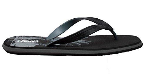 Shaboom Mens Sandalo Infradito A Doppia Densità Comfort Nero