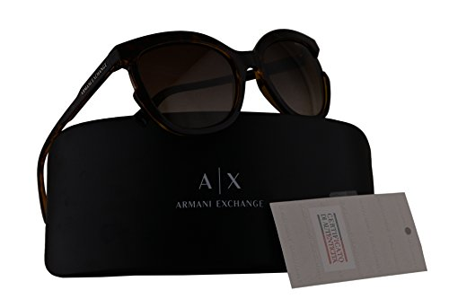 Armani Exchange AX4065S Sunglasses Havana w/Brown Gradient Lens 55mm 803713 AX - Made Exchange Sunglasses In China Armani