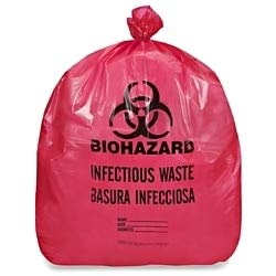 (Laddawn Biohazard Infectious Waste Liner, 7-10 Gallon, 24 X 24, Red,)