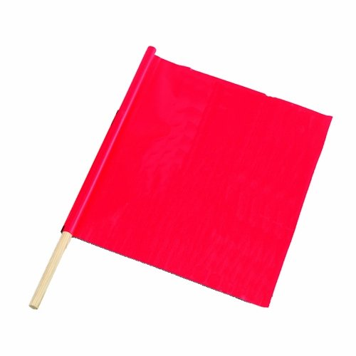 Flag Safety Company - Bon 14-982 18-Inch by 18-Inch Fluorescent Red/Orange Traffic Warning Flag