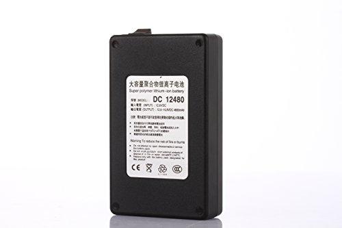 ABENIC Fireproof DC 12V 4800mAh Super Rechargeable Protable Li-ion Lithium Battery DC12480 (Black)