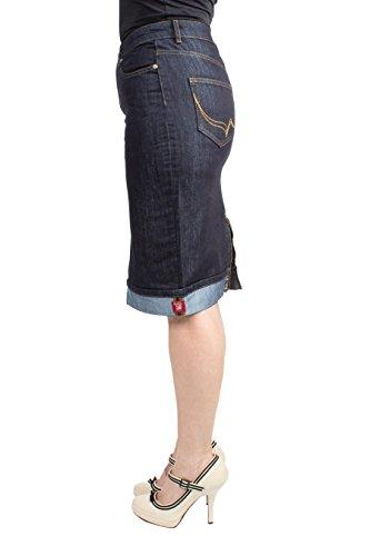 Rumble59 Damen Denim - Perfect Pencil Skirt