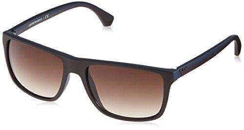 Emporio Armani EA4033 Sunglasses 523113 Brown/Rubber Blue 56MM