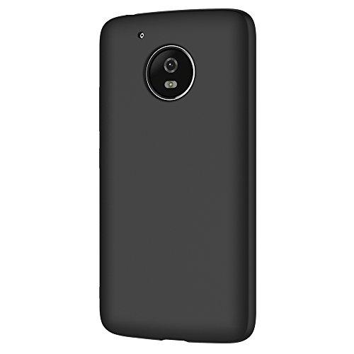 AICEK Funda Moto G5, Negro Silicona Fundas para Lenovo Moto G5 Carcasa Motorola Moto G5 (5,0 Pouces) Negro Silicona Funda Case