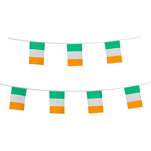 LoveVC 100 Feet Small Mini Ireland Irish Flags