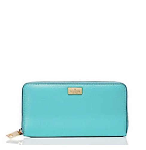 Kate Spade New York Neda Zip Around Leather Wallet Giverny Blue by Kate Spade New York