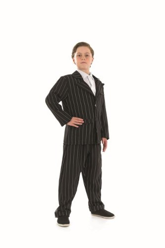[1920s Bugsy Gangster Boy Childs Fancy Dress Costume - L 54inch Height] (Childrens Fancy Dress Costumes Uk)
