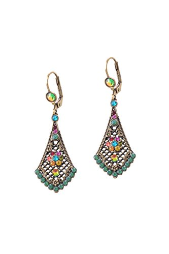 Michal Negrin Dangle Swarovski Multi Aria Earrings ()