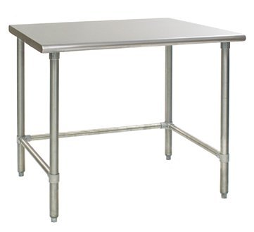 Universal SG2436-RCB - 36'' X 24'' Stainless Steel Work Table W/ Galvanized Cross Bar