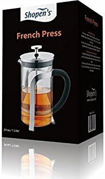 Shopen s French Press 34oz 1 Liter Coffee Tea Press.