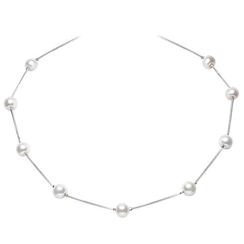 BABEYOND Womens Short Faux Pearl Station Necklace Adjustable Necklace Jewelry Gift for Anniversary Valentine's Day (Style ()