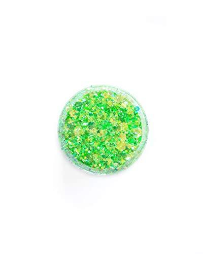 iHeartRaves Lunautics Neon Green Glitzy Glitter (Neon Green, One Size) (Glitzy Glitter Glue)