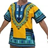 #7: RaanPahMuang Unisex Bright Coloured African Dashiki Cotton Plus Shirt