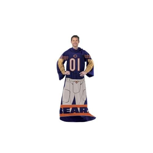 Chicago Bears Comfy Throw Blanket With Sleeves - Player Design (Chicago Bears Northwest Blanket Soft)