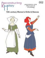 15th Century Costumes (15th Century Women's Kirtle & Sleeves Pattern)