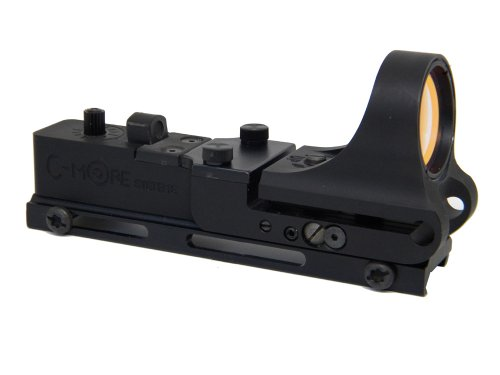 - C-MORE Systems Railway Red Dot Sight with Standard Switch, Aluminum, 6 MOA