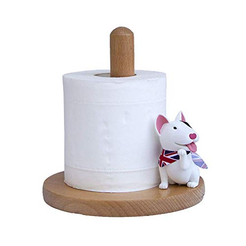YOURNELO Creative Cartoon Rich Dog Solid Wood Tissue Paper Roll Holder for Home (fS) (Fs Tissue Holder)