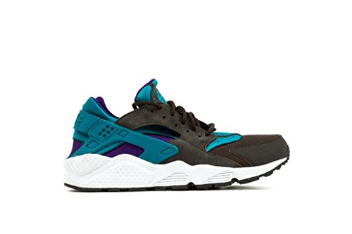 Nike Mens Air Huarache Dark Grey Bright Teal and Purple Trainer