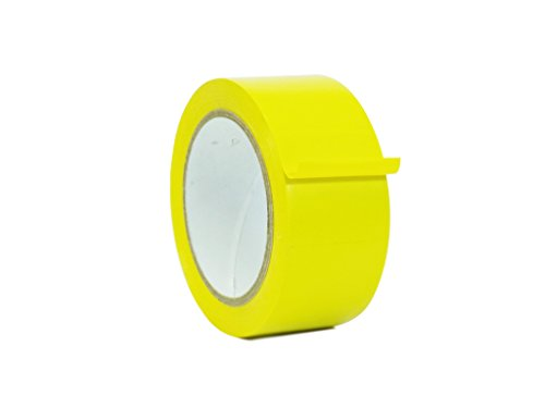 WOD Yellow Vinyl Pinstriping Dance Floor Tape - Ideal for Floor Marking Gym, Court, or any Other Hard Smooth Tape (Also Available in Multiple Sizes & Colors): 4 in. wide x 36 yds. (Pack of 6)