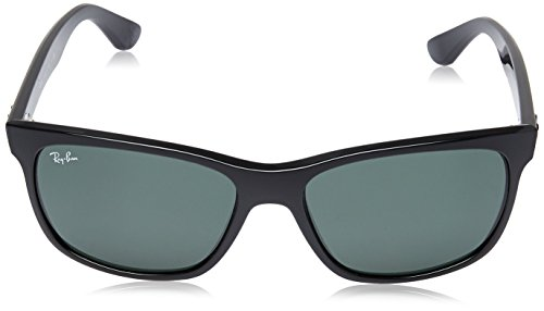 Ray-Ban RB4181 - Shiny Black Frame Crystal Green Lenses 57mm Non-Polarized