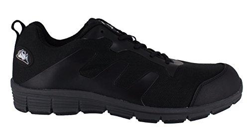 Groundwork GR95C Herren Sicherheitsschuhe aus Segeltuch, Mehrfarbig - Schwarz/Grau - Größe: 40