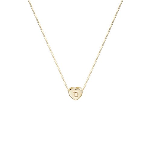 Tiny Gold Initial Heart