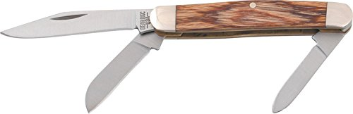 Bear & Son 218R Rosewood Three-Blade Midsize Stockman Slip Joint Knife, 3 1/4-Inch