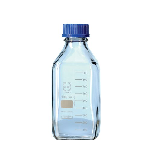 DURAN 21 820 44 5 Laboratory Bottle, Square with Din Thread, 500 ml Capacity (Pack of 10) Duran Group GmbH