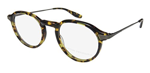 Barton Perreira Watson Mens/Womens Designer Full-rim Fashionable Durable Eyeglasses/Eye Glasses (45-21-145, Tortoise Pattern/Pewter) (Brillen Made In Japan)