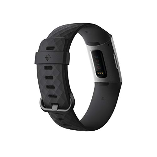 Fitbit Charge 3 Fitness Activity Tracker, Graphite/Black, One Size (S & L Bands Included)