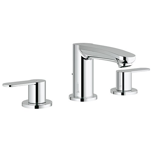 Eurostyle Cosmopolitan 8 in. Widespread 2-Handle 3-Hole Bathroom Faucet - 1.2 GPM