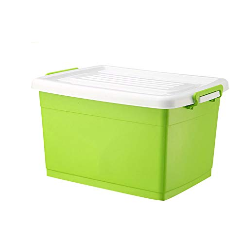 storage box Extra Large Plastic with Lid Can Be Loaded with Clothes Quilt Toys Etc 6 Colors Optional (Color : Green, Size : 60L)