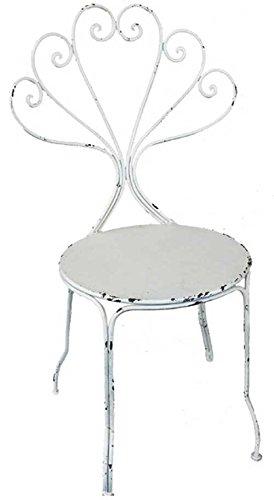 Gartenstuhl Metall Weiss Creme Stuhl Sitzstuhl Metallstuhl Amazon De