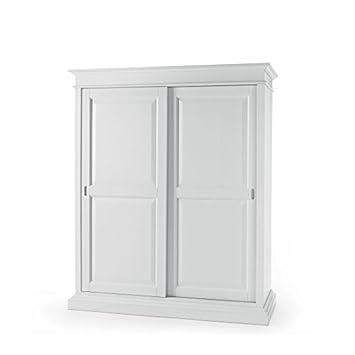 EsteaMobili Kleiderschrank Schiebetüren aus Holz Farbe Weiß ...