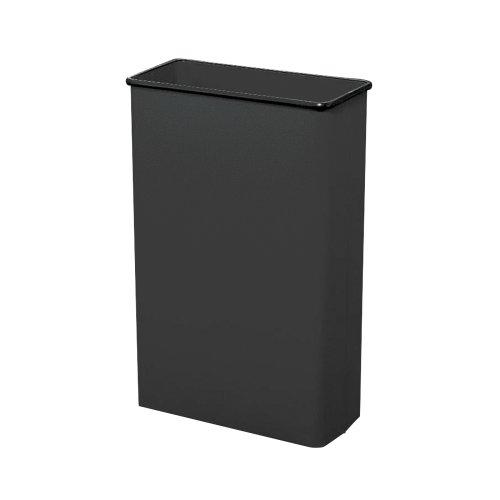 Safco Products Rectangular Fire Safe Steel Wastebasket, 88 Quart, Black, 9618BL