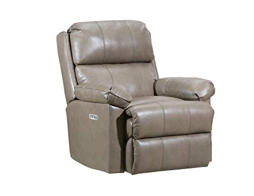 Taupe Leather Recliner - Lane Home Furnishings 4205P-19 Soft Touch Taupe Power Rocker Recliner